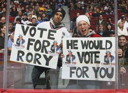 Vote for Rory Fan Signs