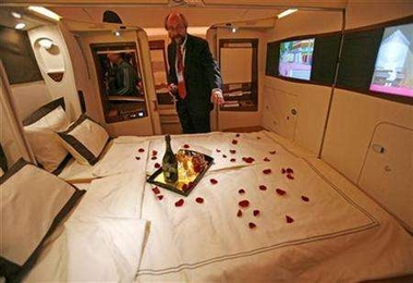 Size Matters for Lovers on New Jumbo Jet