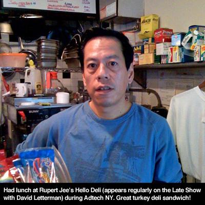 Rupert Jee at the Hello Deli