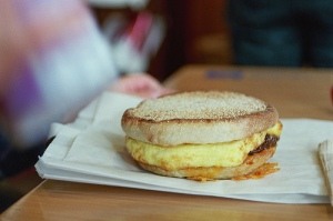 Starbucks discontinued breakfast sandwich.