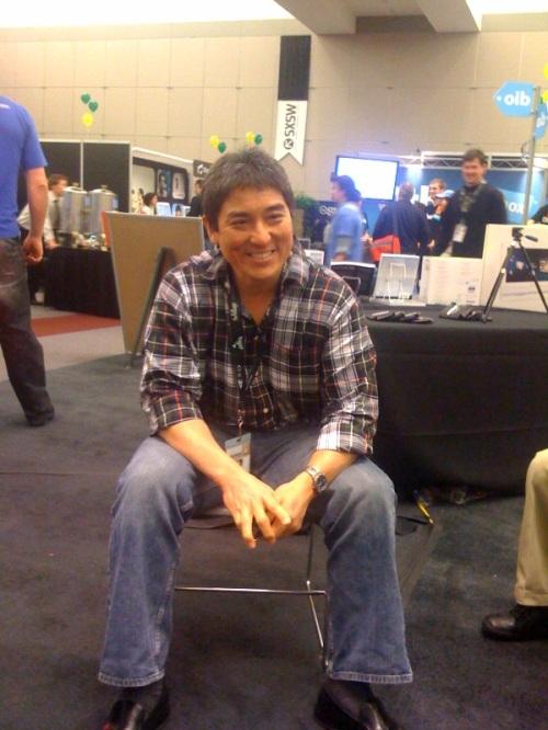Sitting in with Guy Kawasaki at SXSW 2009.